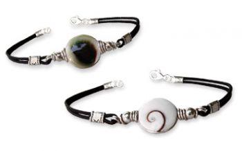 Shiva Auge Armband Leder medium