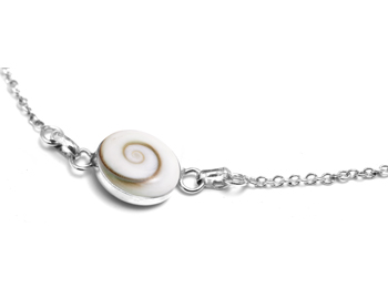Shiva Auge Armkette Silber rund mini