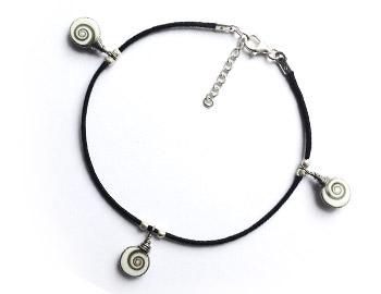 """Shiva Auge Fußkette """"Mini"""" 3 Steine"""