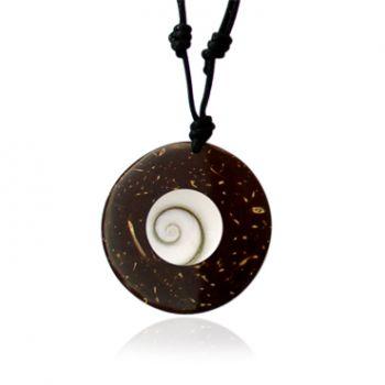 Shiva Eye Halskette Kokosnuss 35mm