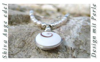 Shiva Auge Halskette Edel mit Perlen