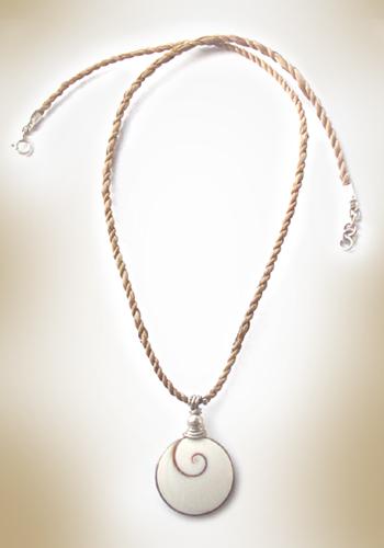 Shiva Auge Halskette aus Hanfband