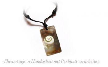 Shiva Eye Halskette Perlmutt Rechteck