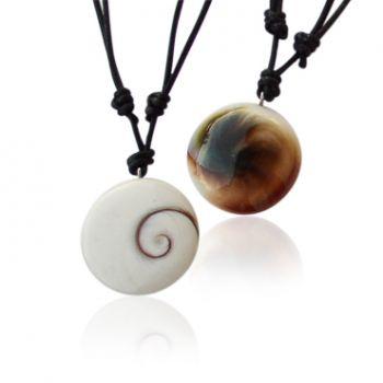 Shiva Auge Halskette big ohne Fassung