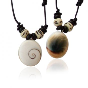 Shiva Auge Halskette medium gebohrt