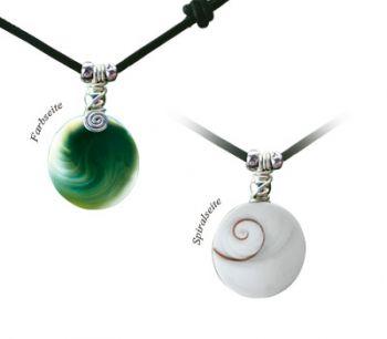 "Shiva Auge Halskette Lederband ""Big"""