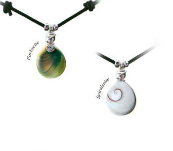 "Shiva Auge Halskette Lederband ""Small"""