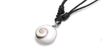 Shiva Auge Halskette Baumwollband mini 2