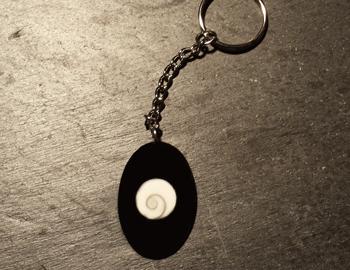 Shiva Auge Schlüsselanhänger Horn oval