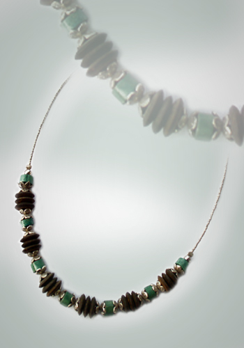 Halskette Türkis und Kokosnuss 2