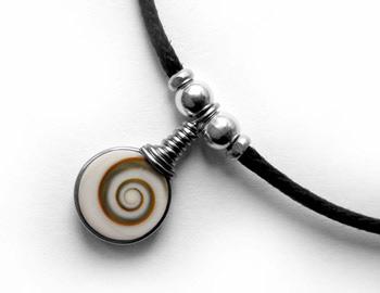 """Shiva Auge Fußkette """"Mini"""" 2 Steine"""