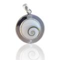 Shiva Eye Anhänger Silberscheibe