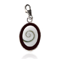 Shiva Auge Charm Harz oval