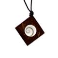 Shiva Eye Halskette Kokosnuss Raute