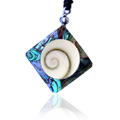 Shiva Auge Halskette Pawamuschel Raute