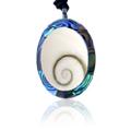 Shiva Auge Halskette Pawamuschel oval