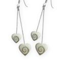 Shiva Auge Ohrhänger Stäbchen Herz 2 x 2