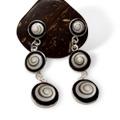 Shiva Auge Ohrhänger Harz 2 x 3 rund