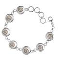 Shiva Auge Armkette 7 massiv Silber