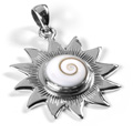 Shiva Auge Anhänger Sonne offen