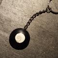 Shiva Auge Schlüssel Anhänger Horn rund